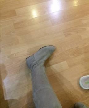 Зимняя обувь на высокой танкетке, сапоги осенние