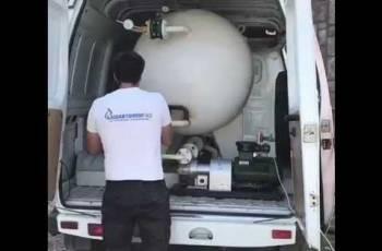 Газгольдер с монтажом 3500 л. для газификации дома