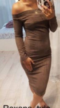 Платье с рукавами фонариками для полных женщин, платье (новое), Тула