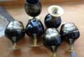 Набор бокалов тёмное стекло позолота, Белгород