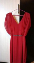 Платье, платье из бархата отрезное по талии, Головчино