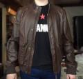 Штаны хаки мужские зауженные милитари на резинке, куртка бомбер кожанная Verri, Пермь