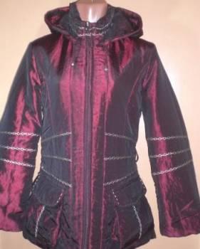 Новая бордовая удлиненная куртка осень - весна, платья женское больших размеров