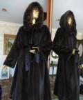 Норковая шуба Махагон р 48 греция, женская одежда зимние куртки, Новосибирск