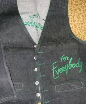 Джинсовый жилет, новый, мужские куртки junker