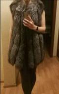 Жилет из чернобурки, платье с накидкой из шифона в пол, Свободный