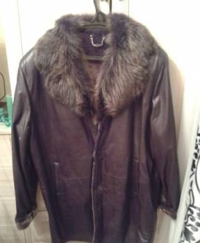 Куртка кожаная интернет магазин, дублёнка мужская, размер 54