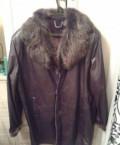 Куртка кожаная интернет магазин, дублёнка мужская, размер 54, Поволжский