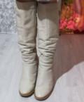 Сапоги зимние. Натуральная кожа, натуральный мех, знаменитые бренды женской обуви, Калуга