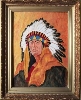 Портрет вождя племени гуронов