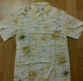 Рубашка с воротником апаш, рубашка мужская, размер 46-48