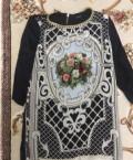 Платье-туника, белое платье с черными колготками и туфлями, Махачкала