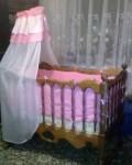 Детская кроватка из массива дуба, Новая Ляда