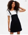 Джинсовый сарафан, белое платье с вырезом кармен, Набережные Челны