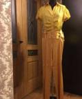 Красное короткое платье для полных девушек, фирменные брюки Франция оригинал, Серноводск