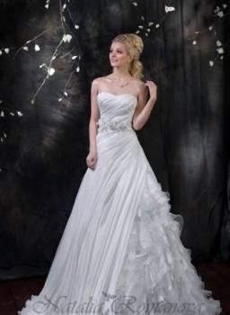Платья в полоску на полных женщин, свадебное платье