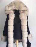 Парка новая LaFuria кролик-рекс, песец, фасоны шифоновых платьев в горошек, Дружинино