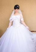 Свадебное платье прямое со шлейфом, свадебное платье, Валуйки