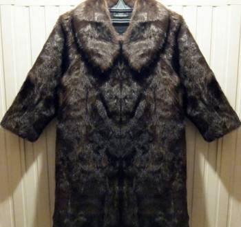 Кашемировое пальто с мехом песца, норковая шуба