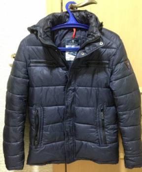 Джинсовая куртка мужская черная, куртка зимняя