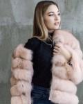 Шуба из песца. Арт: 1322, кожаная куртка трансформер с чернобуркой, Самара
