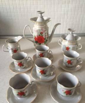 Кофейный фарфоровый сервиз советских времен