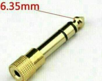 Переходник 3.5 мм - 6.3 мм стерео