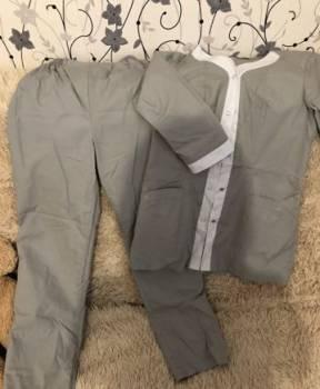 Мужской свитер с воротником рубашки, медицинские костюмы