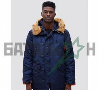 Куртки мужские без капюшона, аляска Slim Fit N-3B Parka Alpha Industries