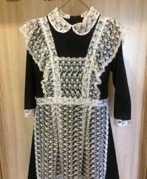 Купить зимнюю одежду больших размеров, продам платье с фартуком на последний звонок