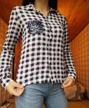 Рубашка-блуза в клетку, купить шубу из кусочков норки