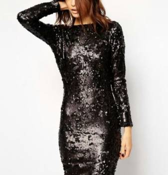 Платье черное, пайетки, одежда для сноуборда магазин
